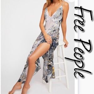 Free People Wild Flowers Maxi Slip NWT S